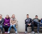Elever som blir portrettert
